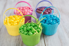 Brightly Colored Jelly Beans for Easter Stock Image
