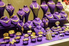 Brightly colored jewelry display Stock Images