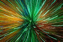 Brightly colored light streaks giving a really strong sense of movement and power, and indicating the fast pace of modern data com royalty free stock photos