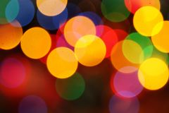 Brightly colored lights Stock Images