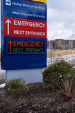 Modern Electronic Hospital Emergency Sign Royalty Free Stock Photo