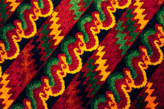Brightly colored patterned surface in astonishing. Royalty Free Stock Photography