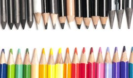 Brightly colored pencils Royalty Free Stock Images