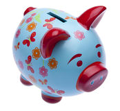 Brightly Colored Piggy Bank Royalty Free Stock Photos
