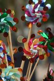Brightly Colored Pinwheels Royalty Free Stock Images