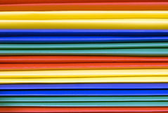 Brightly Colored Plastic File Folders Background Royalty Free Stock Photo
