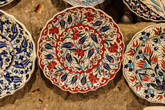 Brightly colored porcelain bowls Stock Photos