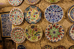 Brightly colored porcelain bowls Royalty Free Stock Photo