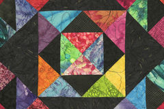 Brightly colored Quilt Block. Brightly multi colored Quilt Block Stock Image