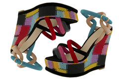 Brightly colored sandals Stock Image