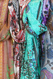 Brightly colored scarfs and veils Royalty Free Stock Image