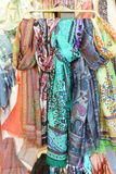 Brightly colored scarfs and veils Royalty Free Stock Photography