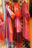 Brightly colored scarfs and veils Royalty Free Stock Images