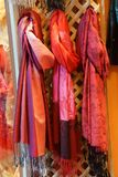 Brightly colored scarfs and veils Stock Photography
