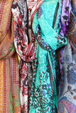 Brightly colored scarfs and veils Stock Photo