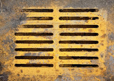 Brightly colored sewer grate Royalty Free Stock Photos