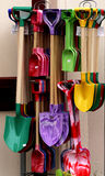 Brightly Colored Shovels Royalty Free Stock Photography