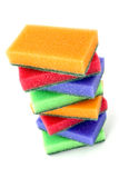 Brightly colored sponges Royalty Free Stock Photo