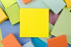 Brightly colored squares Stock Image