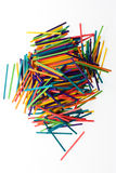 Brightly colored sticks Royalty Free Stock Photography