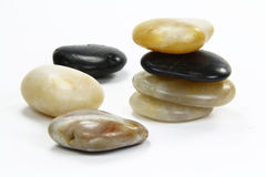 Brightly colored stones stacked Stock Photography