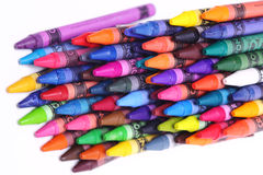 Brightly colored wax crayons Royalty Free Stock Photo