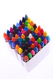 Brightly colored wax crayons Royalty Free Stock Photography
