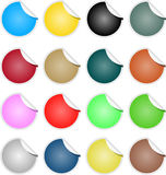 Brightly Colored Web Elements Sale Tag Stickers