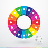 Brightly colored wheel of fortune Stock Photography