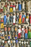 Brightly colored wooden Colonial Dolls in Cape Town, South Africa Stock Photos