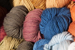 Brightly colored wool Royalty Free Stock Photo