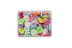 Brightly colorful  buttons in a tray. On White background Royalty Free Stock Image