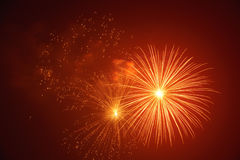Brightly colorful festive fireworks Stock Photography