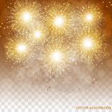 Brightly Colorful Fireworks. Transparent illustration of Fireworks. Holiday fireworks background. Brightly Colorful Fireworks. Holiday fireworks background Royalty Free Stock Images