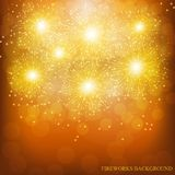 Brightly Colorful Fireworks. Illustration of Fireworks. Holiday fireworks background. Brightly Colorful Fireworks. Holiday fireworks background. Illustration of Stock Photos