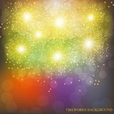 Brightly Colorful Fireworks. Illustration of Fireworks. Holiday fireworks background. Brightly Colorful Fireworks. Holiday fireworks background. Illustration of Stock Photography