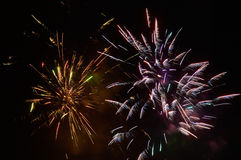Brightly colorful fireworks and salute Stock Image