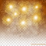 Brightly Colorful Fireworks. Transparent illustration of Fireworks. Holiday fireworks background. Brightly Colorful Fireworks. Holiday fireworks background Royalty Free Stock Photography