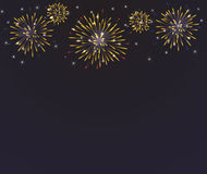 Brightly Colorful Fireworks on twilight royalty free illustration