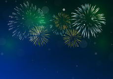 Brightly Colorful Fireworks Royalty Free Stock Image
