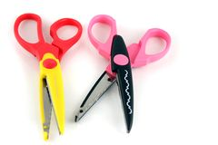 Brightly colors craft scissors Royalty Free Stock Photography