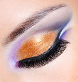 Brightly colors of a fashion makeup Stock Image