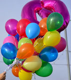 Brightly coloured balloons Stock Photography