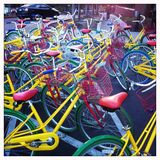 Brightly Coloured Bicycles