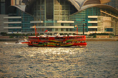 Brightly coloured Hong Kong ferry Royalty Free Stock Photos