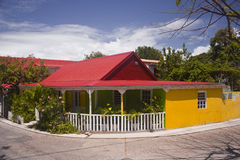 Brightly coloured house Stock Photos