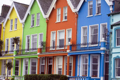 Brightly coloured houses Stock Photography