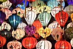 Brightly coloured lanterns on a local market  in Hoi An in Vietnam, Asia. Brightly coloured lanterns on a local market  in Hoi An in Vietnam in Asia Stock Photos