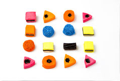 Brightly coloured liquorice sweets Royalty Free Stock Photos