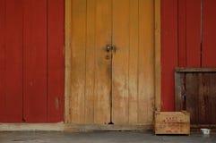 Brightly coloured portico Stock Photos